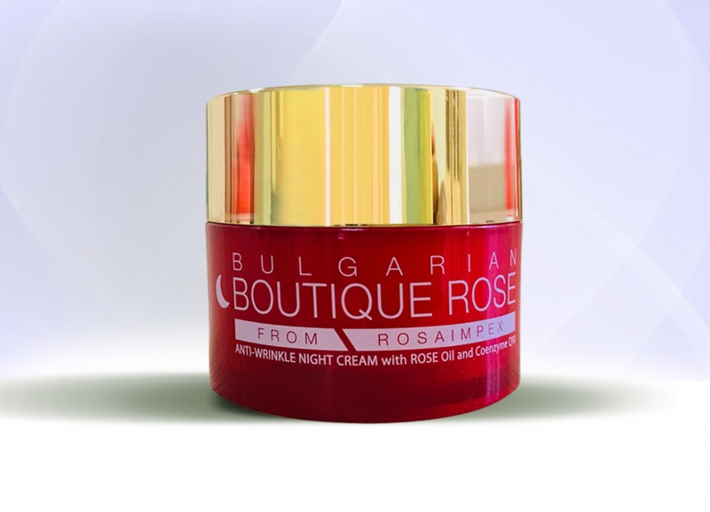 ANTI-WRINKLE NIGHT CREAM with ROSE OIL and Coenzyme Q10